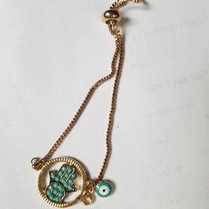 Jewelry - Hamsa hand & evil eye adjustsable bracelet